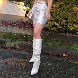 White Boots by Steve Madden Size 7.5